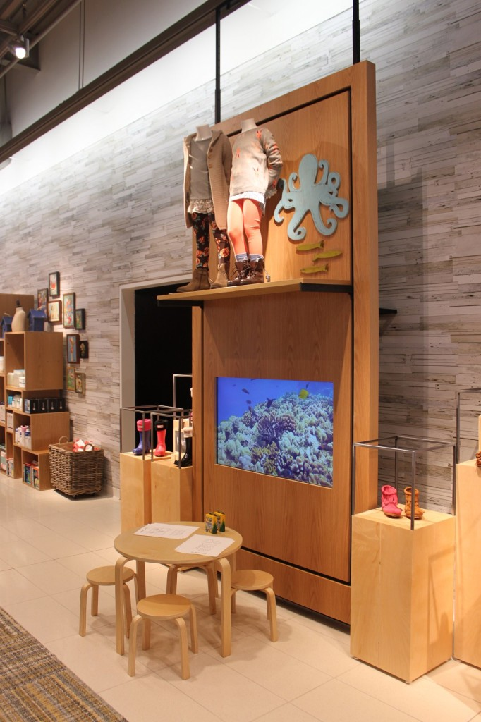 UNtanked aquarium installation at Nordstrom Department Store